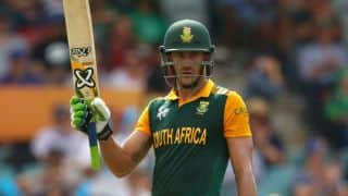 T20 World Cup 2016: South Africa chase down 189 with ease against MCA XI,thanks to Du Plessis, De Villiers special