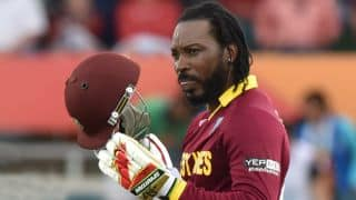 Chris Gayle to get his hamstring scanned