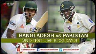 Live Cricket Score, Bangladesh vs Pakistan 2015, 2nd Test at Dhaka, Day 3, Ban 63/1 at Stumps: Pakistan in cruise control