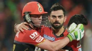 Kohli says, he has always loved batting with de Villiers