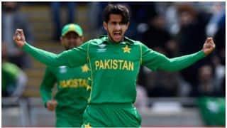 विकेट लेने के बाद क्या करते हैं पाकिस्तान के तेज गेंदबाज हसन अली? देखिए वीडियो