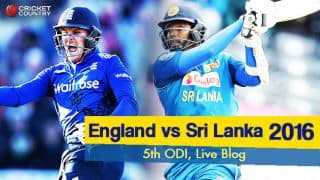 Sl 202 all out in 42.4 overs | Live Cricket Score, ENG vs SL 2016, 5th ODI at Cardiff