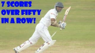 Kumar Sangakkara equals world record of 7 Test fifties in a row