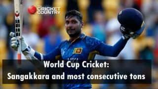 World Cup Cricket: Kumar Sangakkara and most consecutive hundreds