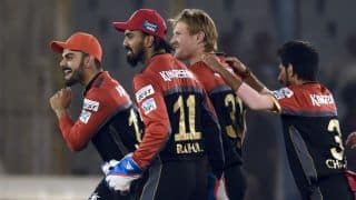 Royal Challengers Bangalore beat Kings XI Punjab by 1 run to win edge-of-the-seat thriller in IPL 2016