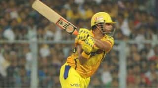 Suresh Raina and David Hussey solid for Chennai Super Kings in chase of 174 against Mumbai Indians IPL 2014 Eliminator match