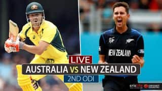 Live Cricket Score, Australia vs New Zealand, Chappell-Hadlee Trophy 2016-17, 2nd ODI
