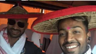 Indian and Australian players get traditional welcome as they arrive in Guwahati for 2nd T20I