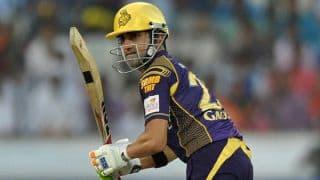 KKR lose Gautam Gambhir, Yusuf Pathan in quick succession vs SRH in IPL 9 Eliminator