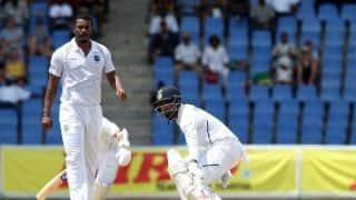 एंटीगा टेस्ट: मयंक, पुजारा और कोहली सस्ते में आउट, राहुल और रहाणे पारी को संवारने में जुटे
