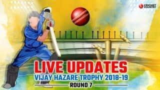 Vijay Hazare Trophy 2018-19 LIVE: Live Cricket Score, Round 7