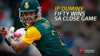 JP Duminy helps South Africa win cliff-hanger against India in the 1st T20I at Dharamsala