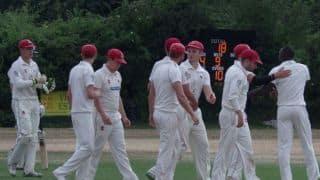 महज 12 मिनट में ढेर हो गई इंग्लैंड की पूरी टीम, रखा 19 रन का लक्ष्य