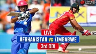 Live Cricket Score, AFG vs ZIM, 3rd ODI at Harare: ZIM to bat