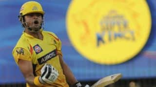 Suresh Raina reaches half-century for Chennai Super Kings (CSK) against Delhi Daredevils (DD) in IPL 2014