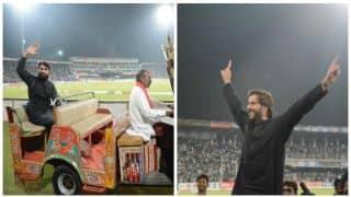 Watch Shahid Afridi, Misbah-ul-Haq take lap of honour during Pakistan vs World XI 3rd T20I