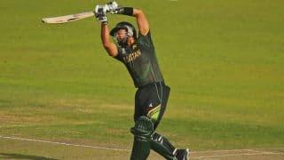 Pakistan vs Australia, Only T20I at Dubai: Glenn Maxwell rocks Pakistan top-order, Ahmed Shehzad fights