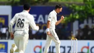 SL vs NZ: Boult, Southee share four but rain halts New Zealand's charge