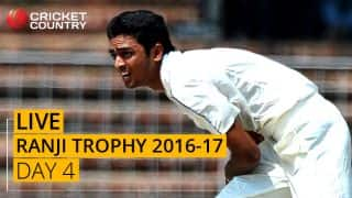 LIVE Cricket Score Ranji Trophy 2016-17, Day 4