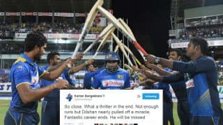 Cricket fraternity reacts on Dilshan's farewell from international cricket