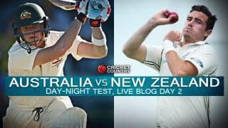 NZ 116/5   Live Cricket Score Australia vs New Zealand 2015, 3rd Test at Adelaide, Day 2: NZ lead by 94 at stumps