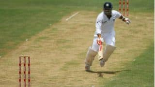 Virender Sehwag blasts 99 before lunch on Day One; misses out on world record