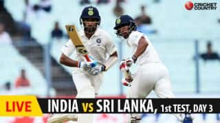 Live Cricket Score, India vs Sri Lanka, 1st Test, Day 3 at Eden Gardens: Pujara falls for 52