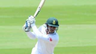 डरबन टेस्ट:  क्विंटन डी कॉक का अर्धशतक, दक्षिण अफ्रीका की पहली पारी 235 पर सिमटी
