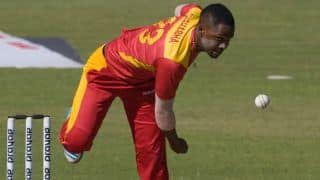 Chamu Chibhabha's 4-25 helps Zimbabwe level series against Afghanistan in 4th ODI at Sharjah