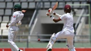 Roston Chase fights lone battle as West Indies go to tea on 146-6 on Day 5, 3rd Test against Pakistan