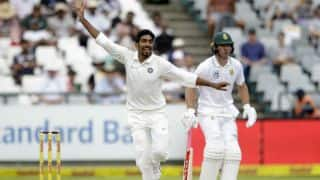 IND pace-bowling, Saha's catching restrict target to 208