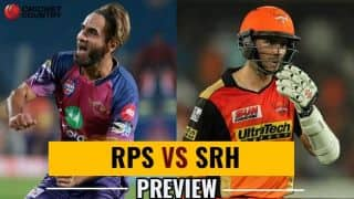 Rising Pune Supergiant vs Sunrisers Hyderabad, IPL 2017 Match 24, Preview and likely XI: SRH eye top spot