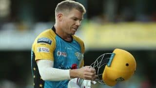 Caribbean Premier League : David warner fails agianst St Kitts and Nevis Patriots