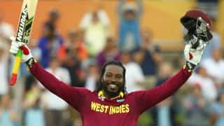 Chris Gayle becomes first non-Indian cricketer to score double century in ODI cricket history: ICC Cricket World Cup 2015 West Indies vs Zimbabwe