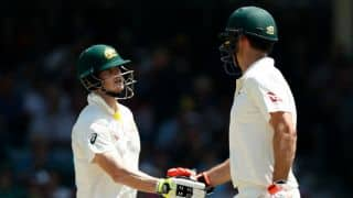 Marsh's maiden hundred, Smith's consistency clear Australia's deficit before tea