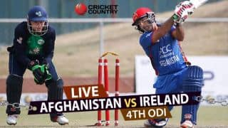 Live Cricket Score, AFG v IRE, 4th ODI at Greater NOIDA: IRE level series 2-2