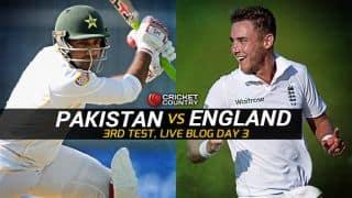 PAK 146/3, lead by 74 | Live Cricket Score Pakistan vs England 2015, 3rd Test at Sharjah, Day 3: Shoaib Malik announces retirement