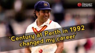 Tendulkar feels Perth ton in 1992 changed his career