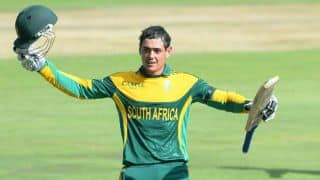 De Kock equals record of fastest to reach 1,000 ODI runs