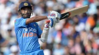 Ajinkya Rahane out as India lose their first wicket