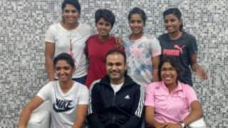 "Virender Sehwag elated to meet ""wonderful girls"" of Indian Women's Cricket team"