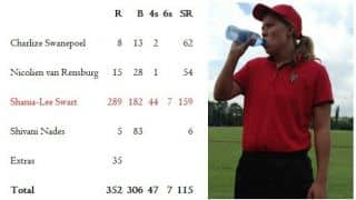 Before that 160, Shania-Lee Swart had smashed 289 when teammates got 28
