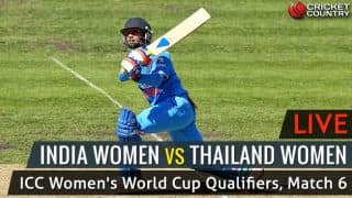 Live Cricket Score, India vs Thailand, ICC Women World Cup Qualifier 2017, Match 6: IND W win by 9 wickets
