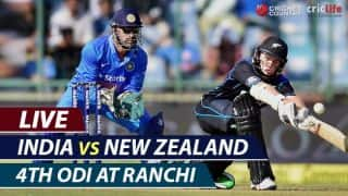 LIVE Cricket Score, India vs New Zealand 4th ODI at Ranchi