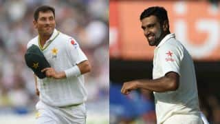 Yasir Shah says hi to Ravichandran Ashwin