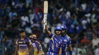 IPL 2017: Mumbai Indians (MI) clinch thriller against Kolkata Knight Riders (KKR) by 4 wickets in IPL 10, Match 7