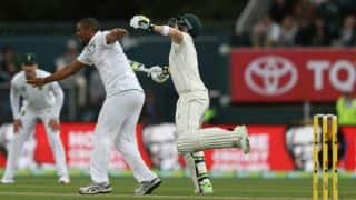 Watch the nasty collision between Vernon Philander and Steven Smith at Hobart