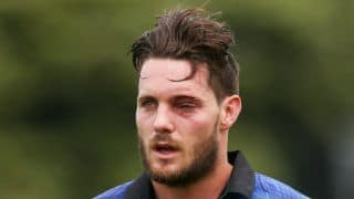 Mitchell McClenaghan rushed to hospital after getting struck by bouncer on left eye