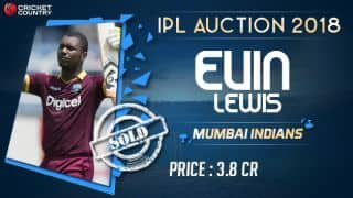 Evin Lewis sold to MI for INR 3.8 crores