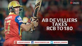 AB de Villiers, Mandeep Singh lead Royal Challengers Bangalore to 180/4 against Rajasthan Royals in IPL 2015 Eliminator